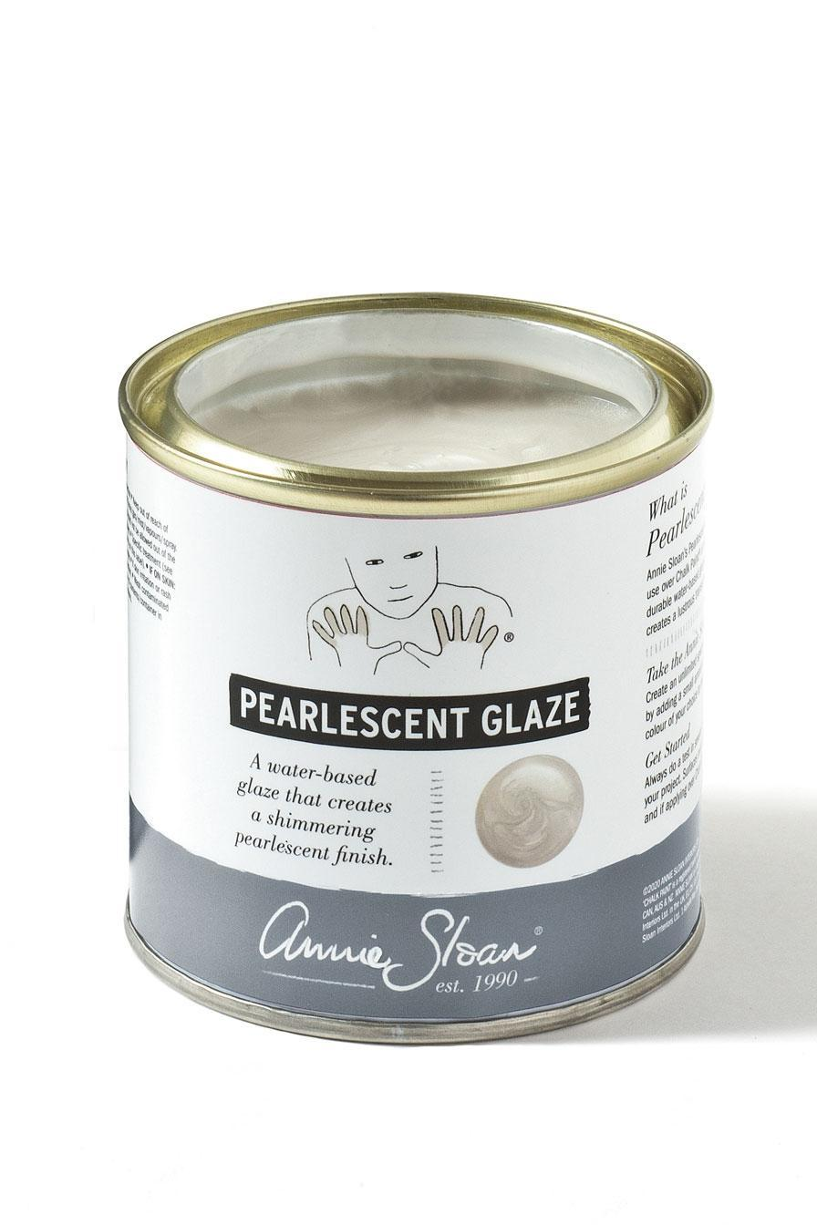 annie sloan 250ml tin of pearlescent glaze 896